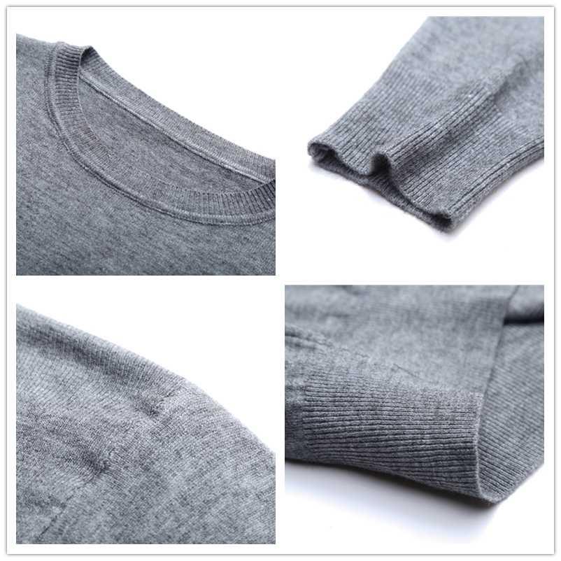 UCAK 브랜드 솔리드 컬러 코튼 스웨터 남성 의류 가을 겨울 패션 Streetwear 스웨터 당겨 옴 캐주얼 풀오버 U1124