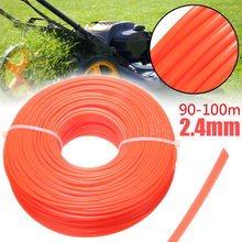 1 Roll 90-100m 2.4mm Nylon Lawn Mower Cord Wire String Garden Grass Trimmer Line for Agricultural Grass Strimmer Cutter Rope