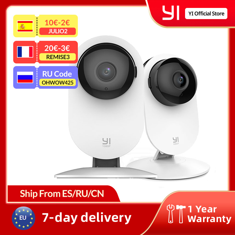 YI 1080p Home Camera Indoor Security Camera Surveillance System with Night Vision for Home/Office Monitor White home camera wireless ipcamera wireless - AliExpress