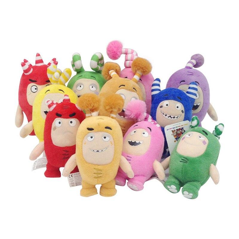 7pcs/lot 18cm Cartoon Oddbods Stuffed Animals Plush Toy