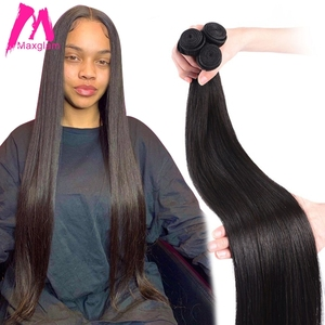 Image 2 - 스트레이트 브라질 인간의 머리카락 번들 확장 직조 8 ~ 30 40 인치 비 레미 자연 확장 짧은 롱 헤어 1 3 4 조각