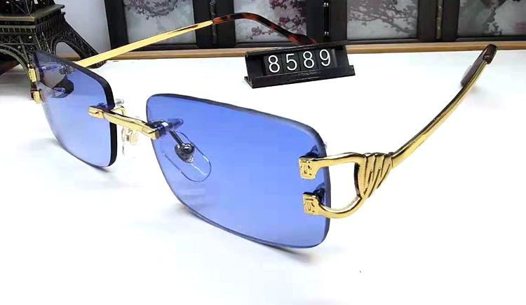 Pawes Glasses Frame Men Sunglasses Gold Rimless Eyeglasses for Woman Anti Reflective Clear Lens Prescription Spectacles 9801