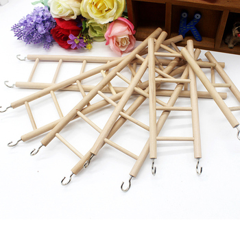 3/4/5/6/7/8 Ladder Birds Toy Wooden Ladders Swing Scratcher Perch Climbing  Bird Cage Hamsters Parrot Toys Hanging Pet Supplies pet bird climbing net bird parrot toys hemp rope training climbing cage toy pet bed bird cage toy 15
