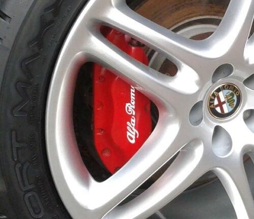 Para 8 pçs alfa romeo pinça de freio decalques adesivos 75 146 147 166 155 164 aranha estilo do carro