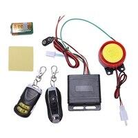 Sistema de alarme da motocicleta anti roubo sistema de segurança com duplo controle remoto 12v universal|Alarme de assaltante| |  -
