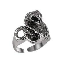 Мужское кольцо со змеиным животным регулируемое из нейтрального