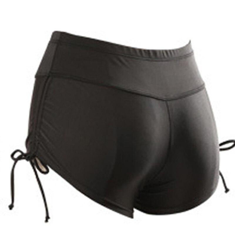 Women Sports Shorts Bottoms Swimming Trunks Women Summer Beach Swimwear Shorts Drawstring Skinny Shorts