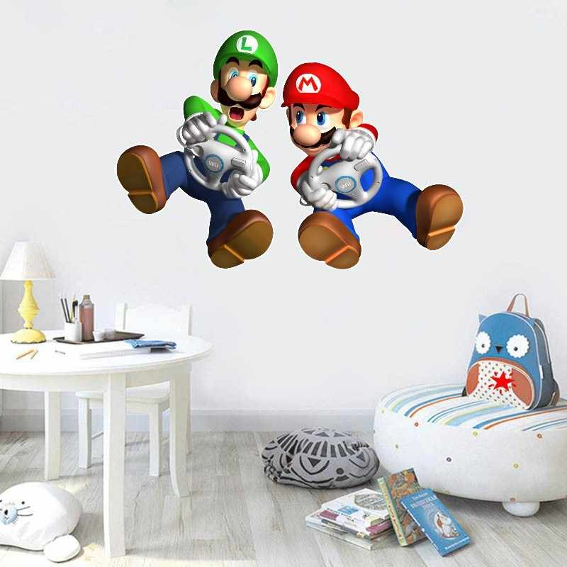Sonic The Hedgehog Game Sticker Childrens Cartoon Bedroom Background Wall Decoration Self-Adhesive Wall Sticker PVC