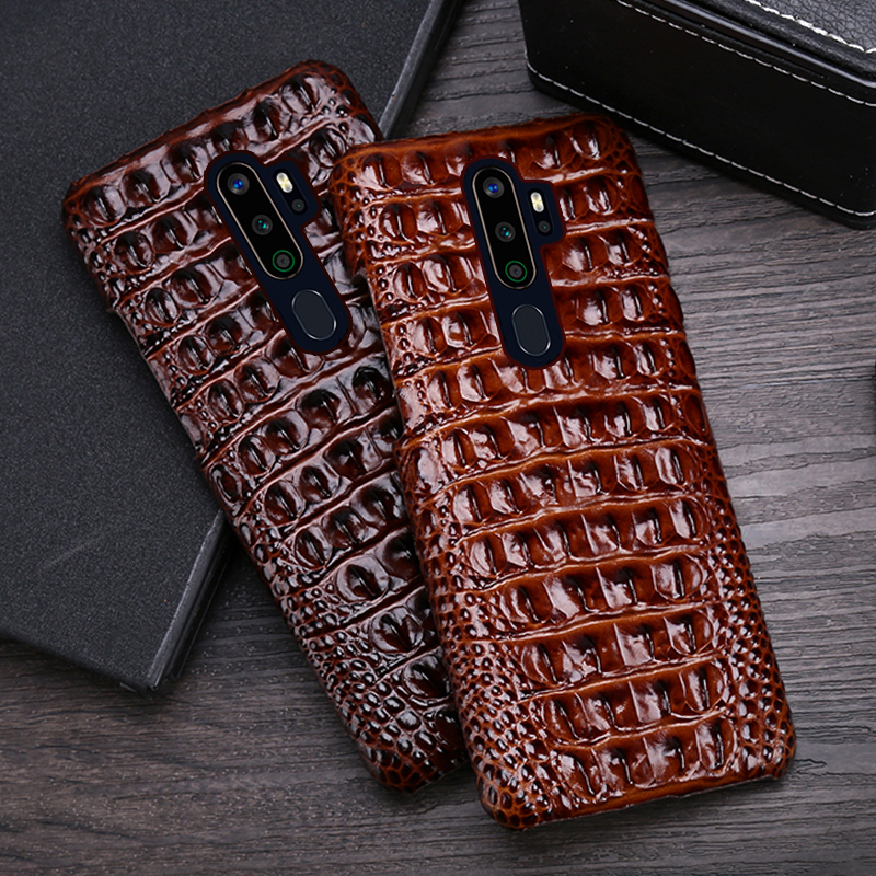 Leather Phone <font><b>Case</b></font> For <font><b>OPPO</b></font> Find X2 R15 R17 Reno Z 2 2Z 2F 3 Pro Ace <font><b>A5</b></font> <font><b>A9</b></font> <font><b>2020</b></font> A11X K3 K5 Cowhide Crocodile Back Texture Cover image