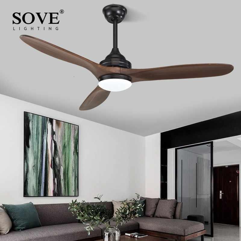 Resolver de 52 pulgadas nórdico moderno ventilador de techo de madera sin luz de madera de ventiladores de techo con luces DC 220v ventilador + lámpara de ventilador de techo