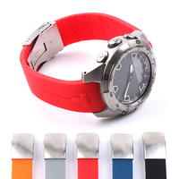 Silicone WatchBand 20mm 21mm Sports For Tissot Touch T013 T047 Rubber Strap T-Sport Watchband Waterproof T013420A T047420A T33