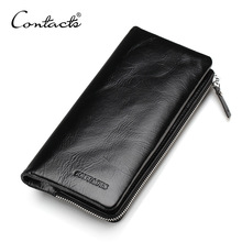 Brand 2019 New Genuine Leather Wallets Classical Vintage Style Men Wallet Fashion Purse Card Holder Long Clutch