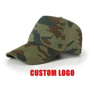 10 шт. камуфляжные кепки с логотипом на заказ, сетчатые рекламные кепки для путешествий, хлопковые кепки, бейсболки, головной убор на заказ