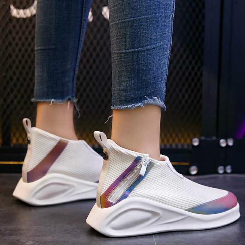 Women's Spring And Autumn Sneakers Fashion Socks Women's Vulcanized Shoes Casual Slip Women's Sneakers Tenis Feminino 2019