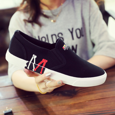 Men's Shoes Slip-On Canvas Breathable Plus-Size Summer New-Brand Spring 45 Shenxuanny