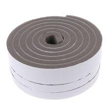 Hot! New Waterproof 2M Door Window Sealing Strips Sound-Proof Foam Sticky Tape Noise Insulation Excluder Tape Roll Sealing Strip