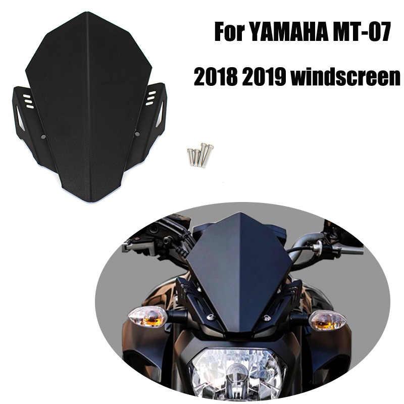 Motor CNC Aluminium Kaca Depan Kaca Depan Angin Deflektor Penutup Bagian Atas Kit untuk Yamaha MT-07 MT07 MT 07 FZ-07 2018 2019 2020
