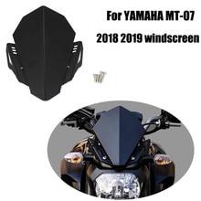 Motorcycle CNC Aluminum Windscreen Windshield Wind Deflector Upper Cover Kit For YAMAHA MT-07 MT07 MT 07 FZ-07 2018 2019 2020