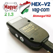 Najwyższy VAG COM 21.3 VAGCOM 20.12 VCDSc HEX V2 Interfejs USB Dla VW AUDI Skoda Seat VAG 20.4.2 węgierski angielski ATMEGA162