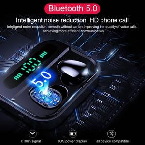 Image 3 - TWS Bluetooth 5.0 אוזניות IP7 אלחוטי אוזניות 6D סטריאו HiFi אלחוטי Earbud משחקי אוזניות עם מיקרופון 2200mAh אפרכסת