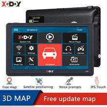 XGODY – navigateur GPS de voiture avec Bluetooth, 7 pouces, HD FM, dernière carte d'europe et d'amérique, satellite, 715, 128 mo + 8 go, Coche GPS