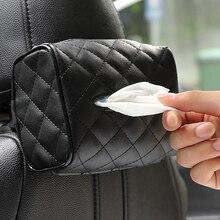 Кожаный Автомобильный солнцезащитный козырек коробка для салфеток спинка стула висячий Тип Автомобильная тканевая сумка креативный бумажный лоток для салфеток держатель Органайзер