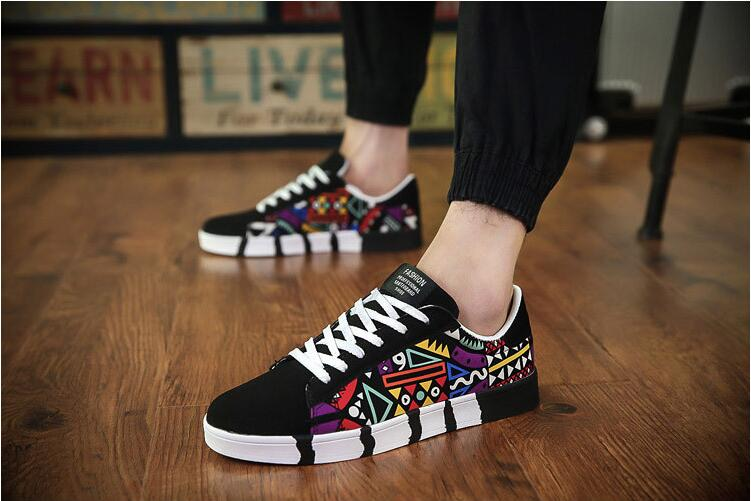 2019 Men Shoes Spring Autumn Casual Canvas Flat Shoes Lace-up Male Sneakers Tenis Masculino Adulto