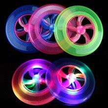 Новая детская игрушка летающие диски спортивные флэш Открытый Классический Форма кольца пляж площадь светящиеся игрушки флэш Спортивные Летающие пластины