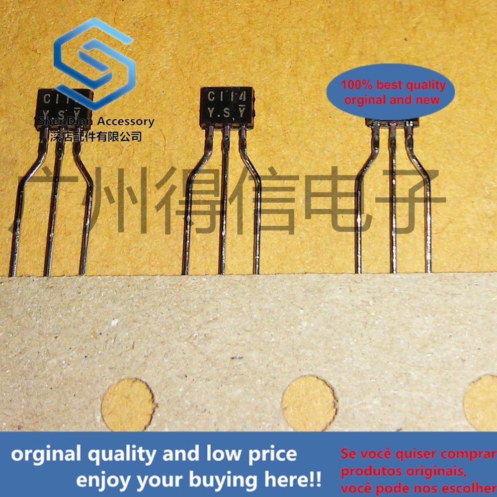 30pcs 100% Orginal New DTC114YS C114 TO-92S PNP Digital Transistors (Built-in Resistors) Real Photo
