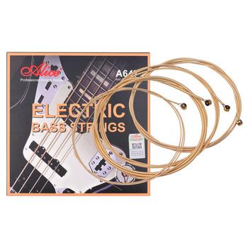 Alice A647(4)-M elektryczna gitara basowa struny sześciokątne rdzeń brąz stop żelaza struny uzwojenia dla 4-strunowe 22-24 progi elektryczna gitara basowa tanie i dobre opinie CN (pochodzenie) NONE