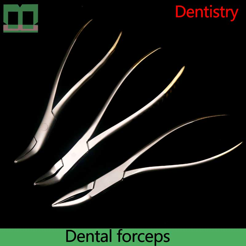 Dental Forceps Aureate Handle The Upper Jaw 16cm The Lower Jaw Dental Department Stainless Steel Dental Pincette
