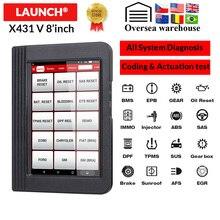 Lansmanı X431 V 8 inç Wifi/Bluetooth otomatik teşhis aracı tam sistem X 431 V 8 sürüm OBD2 araba tarayıcı 2 yıl ücretsiz güncelleme