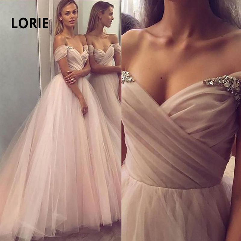 LORIE Double V-neck Wedding Dress 2019  Off The Shoulder Back Lace Up Beach Boho Bride Gown A-line Vestido De Noiva Customized