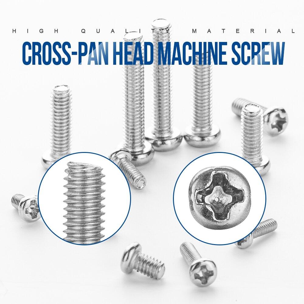 Free ShipÙ720pcs/set Cross Recessed Round Pan Head Laptop Screws Set M1.4 M1.7 M2 M2.5 M3 Carbon Steel Machine Screw Assortment Kit