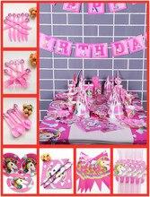 82 unid/set unicornio fiesta suministros decoraciones vajilla desechable mantel Banner platos tazas cumpleaños favores regalos adultos bebé