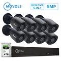 MOVOLS 5MP Bewakingscamera 8CH HD Outdoor Indoor 8x5 MP 2560*1920 HD CCTV Camera video surveillance kits