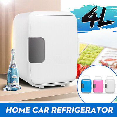 Refrigerator Cooler Freezer Car Mini Fridge Electric Portable Home 12V/220V 4L White-