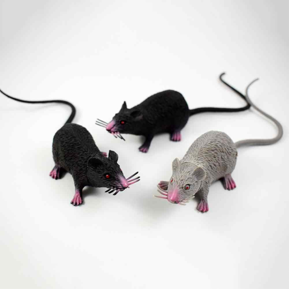2019 Hot 1Pcs Funny Tricky Joke Fake Lifelike Mouse Model Prop Halloween Gift Toy Party Decor for Kids Novelty & Gag Toys