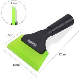 Image 5 - FOSHIO Griff Gummi Rakel Auto Reinigung Werkzeug Carbon Vinyl Wrap Fenster Tönung Glas Küche Sauber Wasser Wischer Schnee Eis Schaber