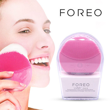 Foreo Luna Mini 2 Electric Facial Cleansing Pore Cleaner Apparatus Blackhead Acne Removal Silicone Washing Instrument