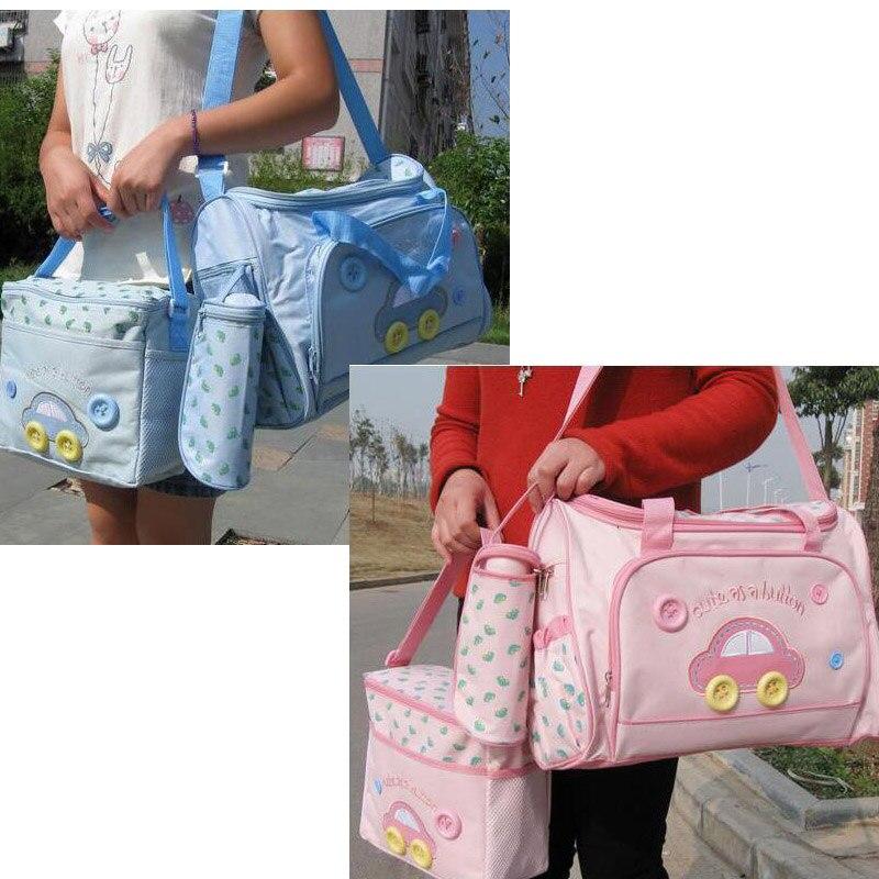 4Pcs//set Baby Nappy Diaper Changing Bags Maternity Mummy Tote Handbag Waterproof