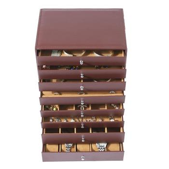8-Storey Luxury Jewelry Box  Necklaces Earrings Sunglasses Bracelets Watches