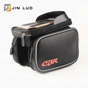 Велосипедная сумка, велосипедная сумка для телефона, водонепроницаемая, MTB BMX, передняя трубка, складная рама, велосипедная упаковка, аксесс...
