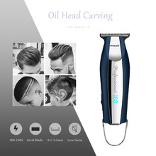 Cordless Electric Clipper Powerful Low Noise Hair Trimmer Mini Engraving Pushing Shear With 3 Limit Combs Household Cutter 43(China)