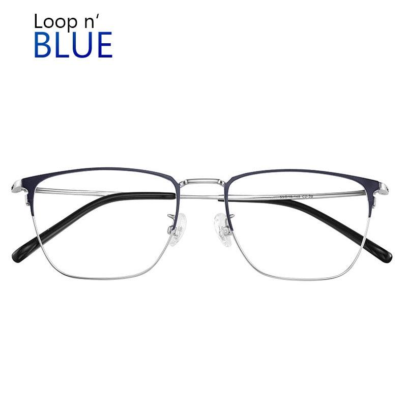 Men's and women's glasses luxury glasses retro style glasses high quality anti-blue metal frame glasses work anti-myopia glasses