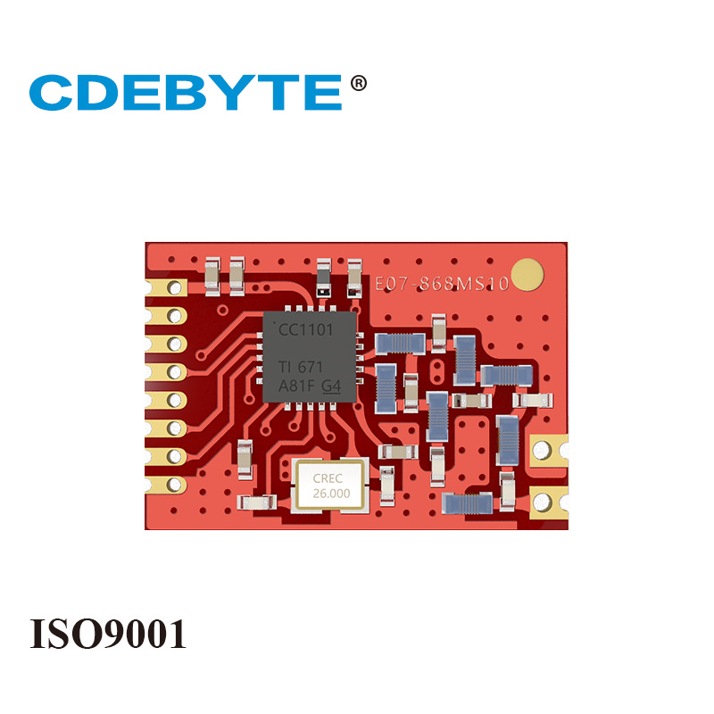 Ebyte E07-868MS10 CC1101 868MHz RF Module 10dBm SMD Stamp Hole IoT Wireless Transceiver