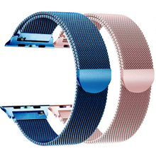 цена на Stainless Steel band for Apple watch 38mm 42mm Milanese Loop Magnetic Clasp Strap 40mm 44mm for iWatch series 4 3 2 1