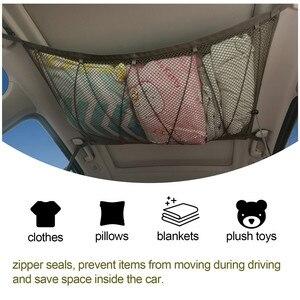 Сетка для хранения на потолок автомобиля SUV, карманная сетка на крышу автомобиля, интерьерная сетка для груза, Воздухопроницаемая сетчатая сумка для хранения и поддержания порядка, аксессуары для интерьера автомобиля|Все для уборки|   | АлиЭкспресс