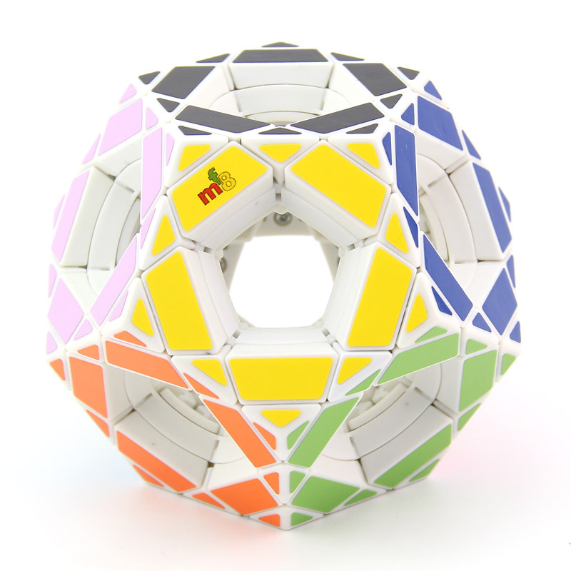 Original High Quality MF8 Hollow V1 Megaminxeds Magic Cube Void Hole Dodecahedron Wisdom Speed Puzzle Christmas Gift Kids Toys