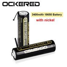 5 pièces 18650 batterie nouvelle originale 18650 3.7v 3400 mah Lithium batterie Rechargeable avec bricolage nickel 18650 3400 mah batterie